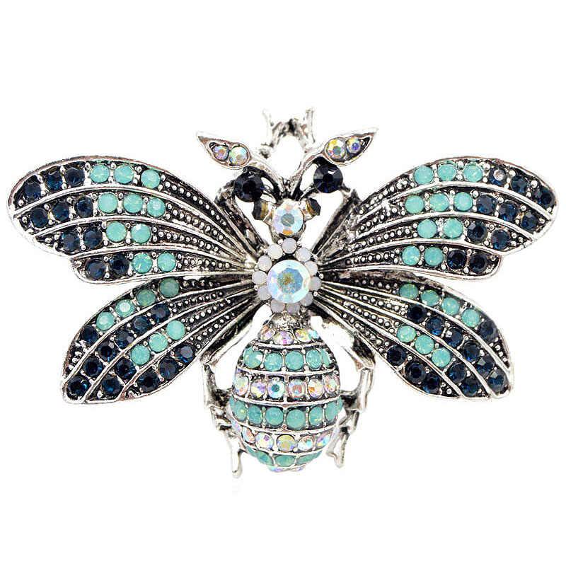 Vintage Rhinestone Vintage Big broszka pszczoła letni płaszcz akcesoria biżuteria dobry prezent