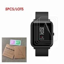 5 шт. в упаковке для Xiaomi Huami Amazfit Bip BIT PACE Lite Смарт-часы высокое разрешение пленки полное покрытие Мягкий ТПУ протектор экрана