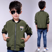 boys clothes 2019 New Solid Color Tops Spring and Autumn Long Sleeve Jacket childrens clothing
