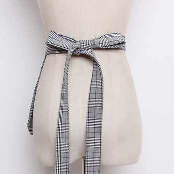 TWOTWINSTYLE Plaid Belt For Women High Waist Bandage Pocket Cummerbund Belt Female Elegant Spring Tide 2020 Fashion
