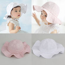 Enfants Chapeau bébé Fille Solide Blanc Rose Chapeau D été En Plein Air  Bébé Chapeau 8cf5ed26501d