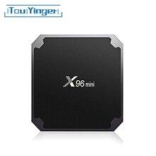 Touyinger x96 mini smart android 7.1 caixa de tv 2gb ram 16gb amlogic quad core suporte 4k media player 2.4ghz wifi iptv conjunto caixa superior