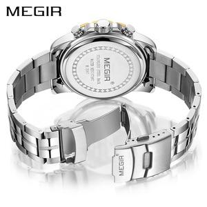 Image 3 - 2020 New MEGIR Watch Men Chronograph Quartz Business Mens Watches Top Brand Luxury Waterproof Wrist Watch Reloj Hombre Saat