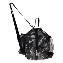 Oxford Fabric Portable Camo Basketball Carry Case Football Volleyball Storage Bag for Outdoor Sports Hand 26-28 cm