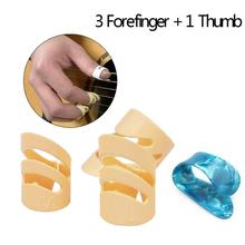 цена на 4 Pcs/Lot Guitar Finger Picks for Acoustic Guitar/Electric Guitar/String Instruments Bass Guitar Accessories