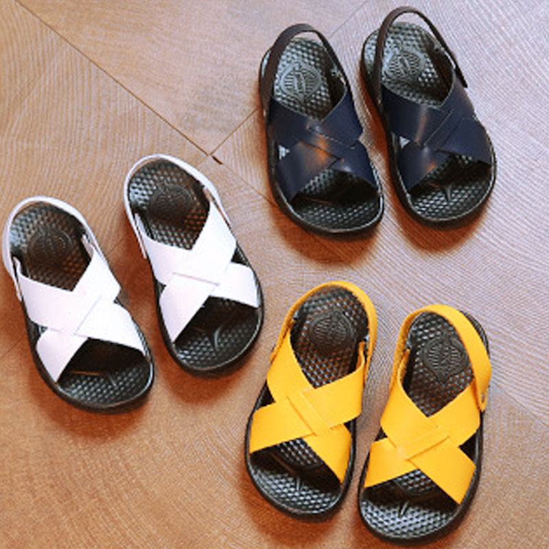 Children's Summer Shoes 2019 New Fashion Trend Leather Sandals Children's Shoes Sneakers Sportswear For Boys  Simple Shoes