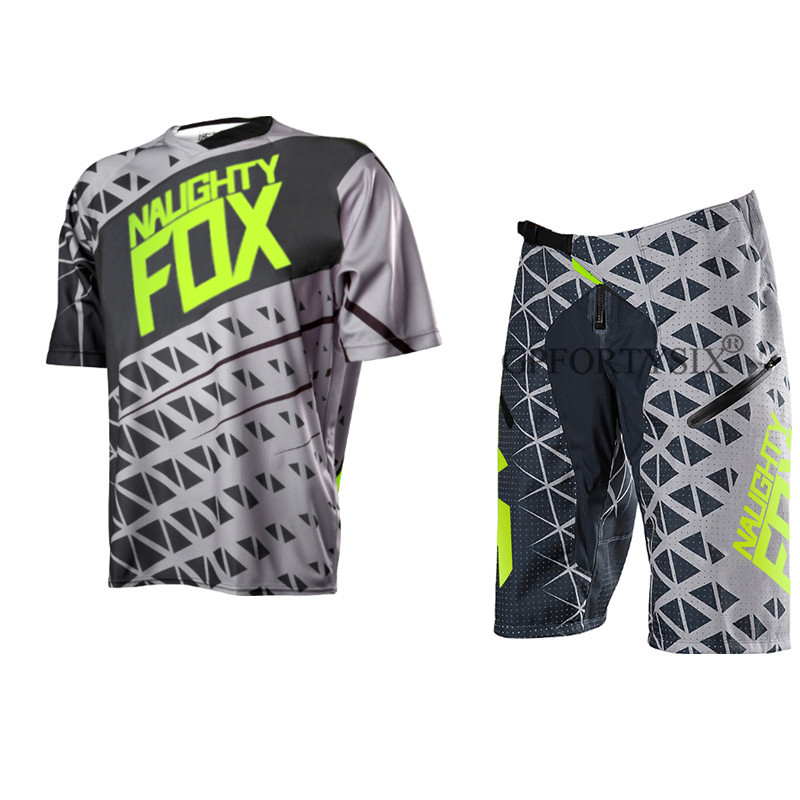 NEW 2018 NAUGHTY FOX Summer ATV BMX DH MX Cycling Suit Off Road Dirt Bike Short Combo Motorcycle Mountain Bike Clothes SetNEW 2018 NAUGHTY FOX Summer ATV BMX DH MX Cycling Suit Off Road Dirt Bike Short Combo Motorcycle Mountain Bike Clothes Set