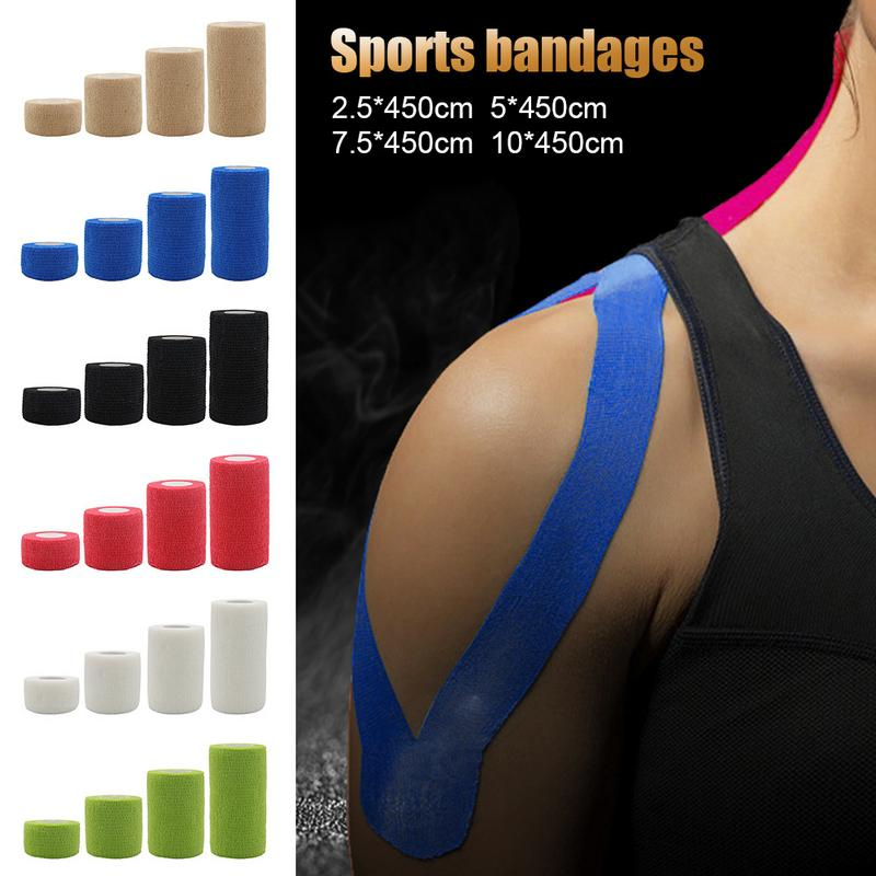 Elastic Bandage Roll Self-Adhesive Tape 5cmx5cm Sports Protection Muscle Tape Bandage Care First Aid Tape Muscle Injury Support