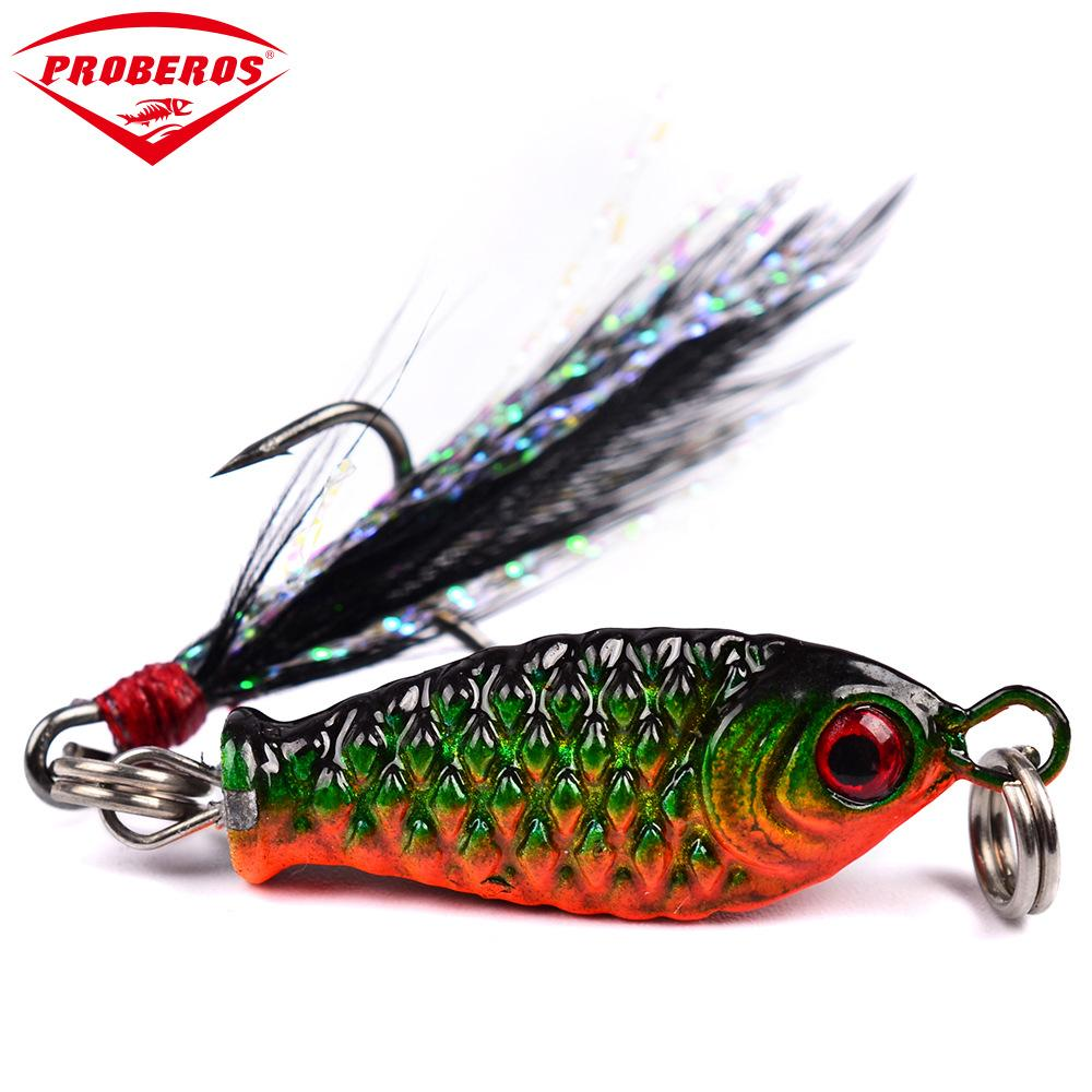 1pcs Metal VIB Fishing Lures Vibration Spoon Lure Crankbait Bass Artificial ABS Hard Baits Feather fishing tool