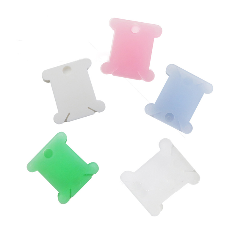 Cross-stitch Plastic Winding Plate Embroidery Thread Holder Winding Plate Board Costume Sewing Accessory 50 Pcs Stand Bobbin