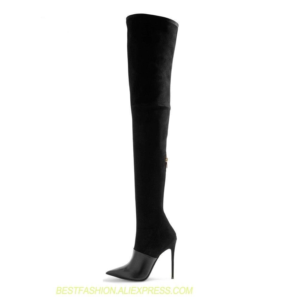 Talons Stretch Grande Picture Femmes Pour Cuisse Le Chaussures Mince Taille Hauts Mode Bottes Femme Picture Genou as Slim Sur Haute As 45 De Sexy Sapatos EqBZ7WUdU
