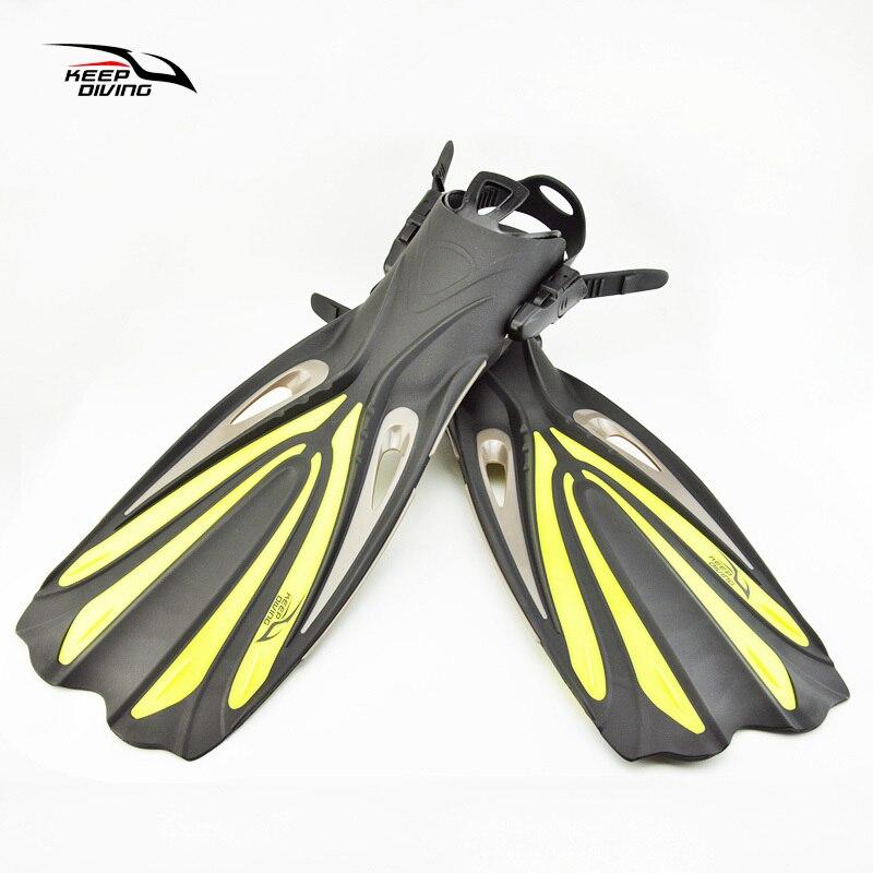 Garder la Plongée Plongée Longues Nageoires Plongée En Apnée Réglable nageoires Ouvert Talon Plongée Spécial Pour la Plongée Bottes Chaussures Monopalme Vitesse