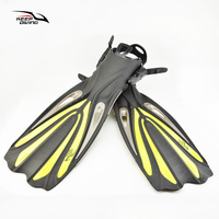 Keep Diving Diving Long Fins Adjustable Snorkeling Swim Flippers Open Heel Scuba Special For Diving Boots Shoes Monofin Gear