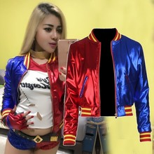 5d1b65fe3 Em Estoque Do Filme Batman Harley Quinn Traje Cosplay Mulheres Coats Jacket  Meninas Adulto Calças Curtas