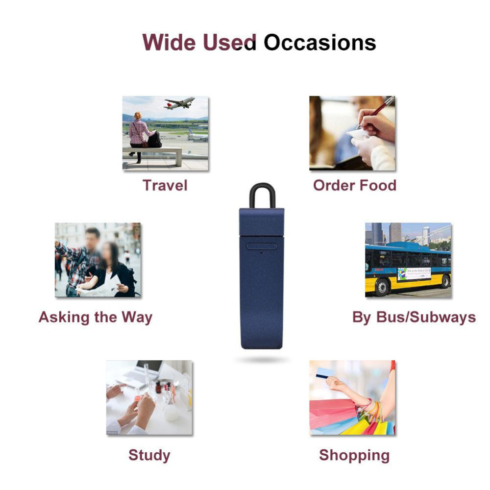 Peiko Earphone Voice Translator 16 Languages Intelligent Instant Wireless Bluetooth Translate Translator Earphone Headset