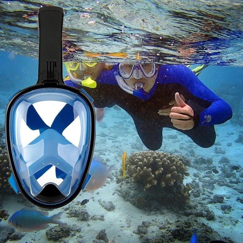 Anti-brouillard Équipement de Plongée En Apnée Visage Sec Masque Appareil Respiratoire À Air Accessoires Snorkel Set Plongée Plongée Sous-Marine Aqualung