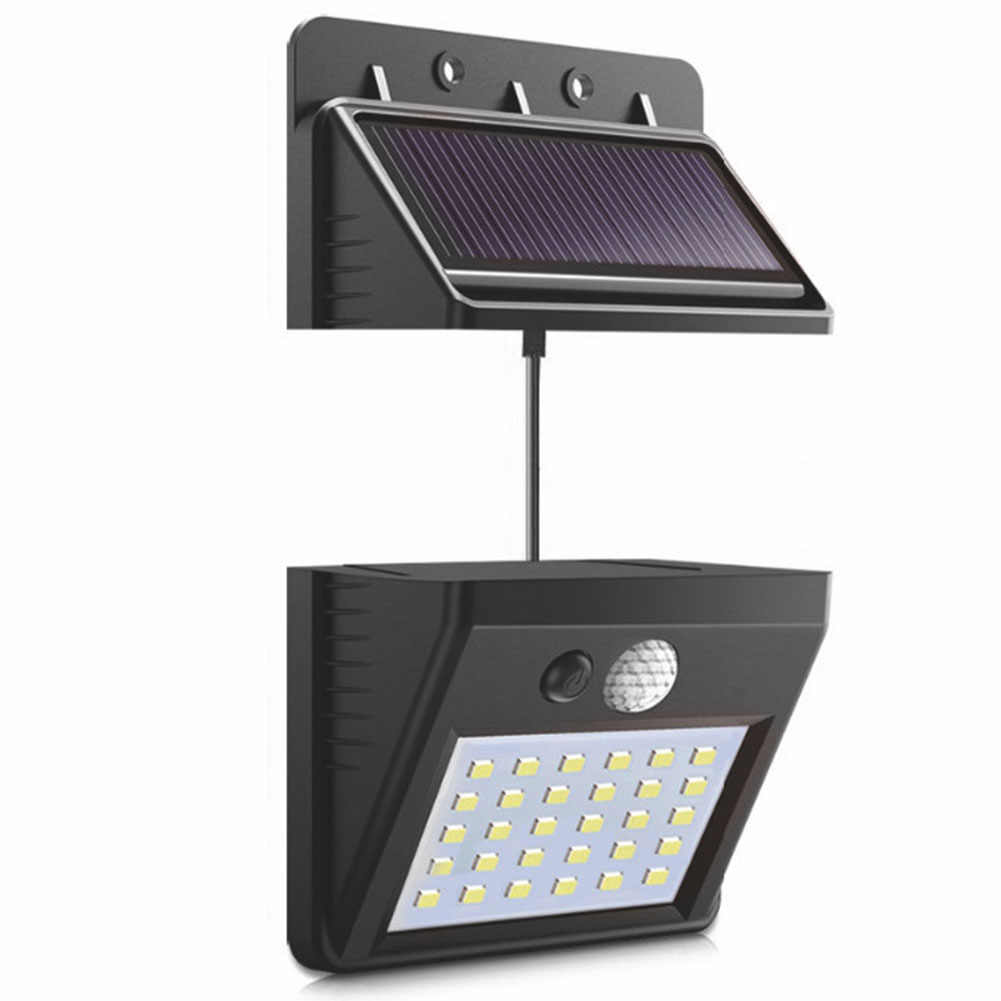 High Quality Separable Solar Panel Outdoor LED Wall lamp Motion Sensor/Night Sensor Solar light For Garden Night Light #1108