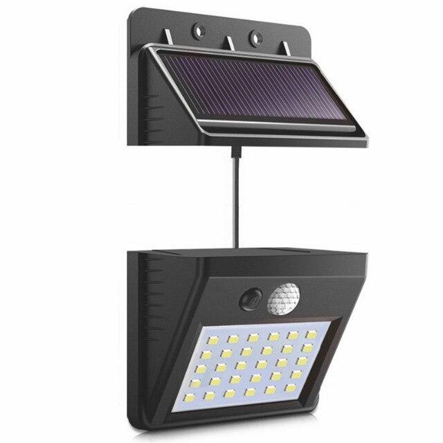 Высококачественная разделяемая солнечная панель наружный светодиодный настенный светильник датчик движения/Ночной Датчик солнечного света для сада ночник #1108