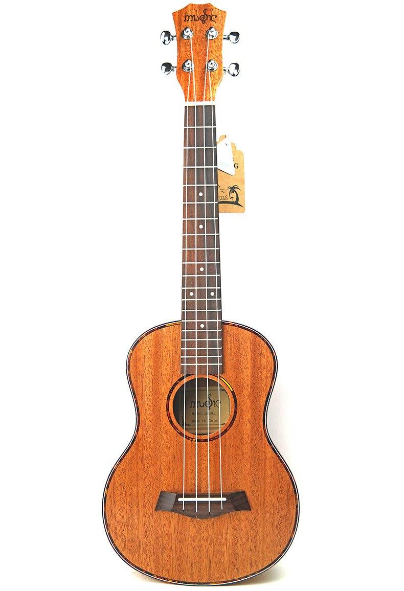 23 pouces ukulélé petite guitare fleur de pêche coeur tortue rouge
