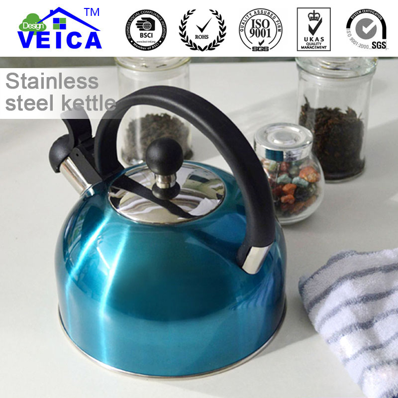 2018 Toppkvalitet Ny Vattenflaska Whey Protein Fashion Durable Hot Sale Rostfritt stål Whistle Kettle With Handle