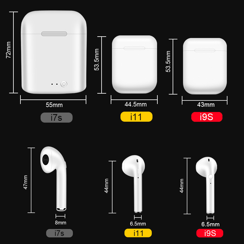 I7s I11 Tws Bluetooth Earphones V5 0 Headphones Stereo Sports Wireless Headset Earbuds With Mic Charging Box For All Smart Phone in Bluetooth Earphones Headphones from Consumer Electronics