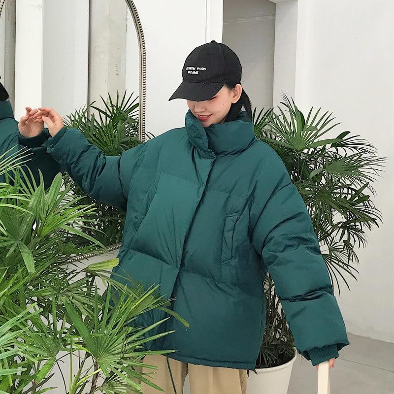 Épais D'hiver À white Stand De Lâche Dames blue Coton Ouatée Veste Tendance Mode green Black Longues Manches Col Nouveau Z261 Femmes Parkas 2018 Manteau Occasionnel 0ASx57Aq