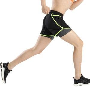Image 5 - Мужские шорты для марафона и бега 2 в 1, шорты для спортзала, шорты для спортзала, короткие спортивные велосипедные шорты с длинной подкладкой, большие размеры
