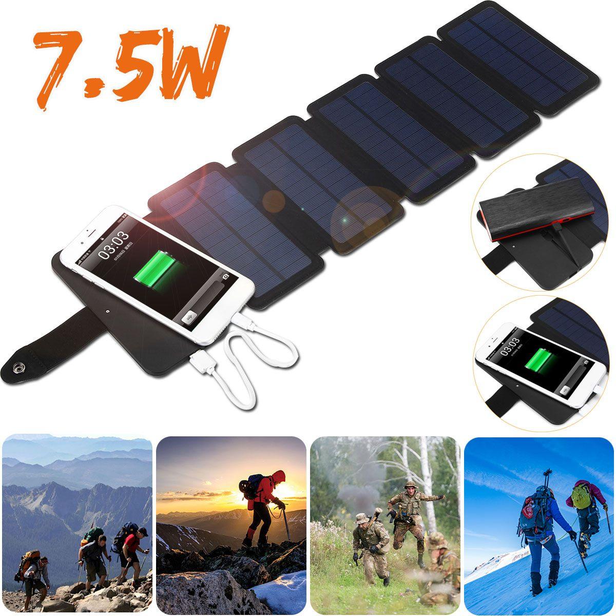 Chargeur de panneau solaire extérieur pliant USB type-c Port batterie externe chargeurs de téléphone Portable batterie externe Portable générateur solaire