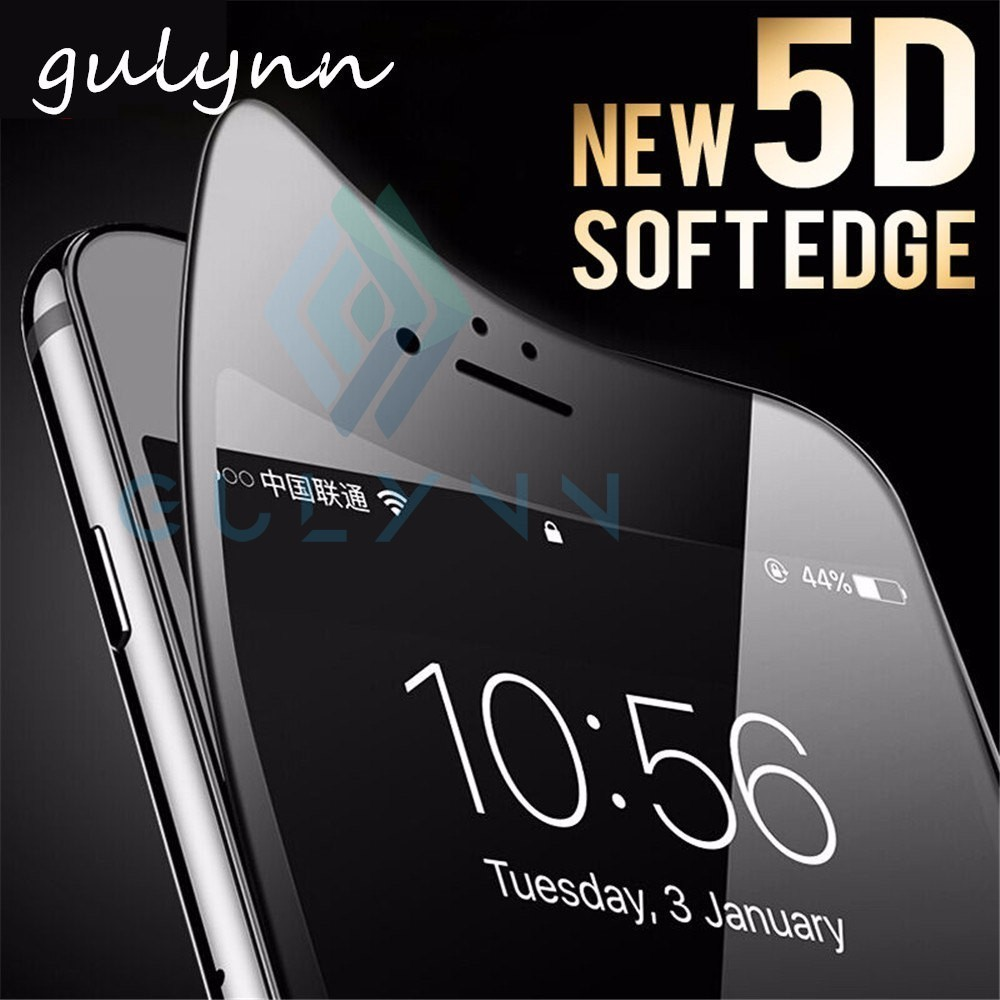 Tempered-Glass Screen-Protector iPhone 6s Curved 8-Plus 5D for Max-Cover Soft-Edge XR
