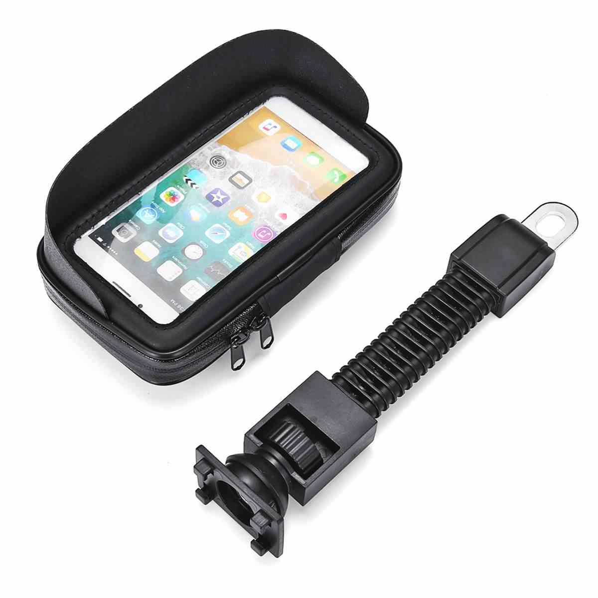 オートバイ、自転車、携帯携帯電話ホルダースタンド Iphone 5 5 S 6 サムスン S7 GPS バイクホルダー防水ケースバッグ