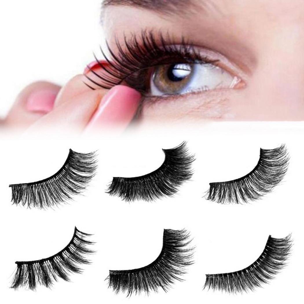 3D Mink False Eyelash Curling Soft Slender Black Three-dimensional 1.1cm0.4inch False 1.1cm0.4inch Eyelashe