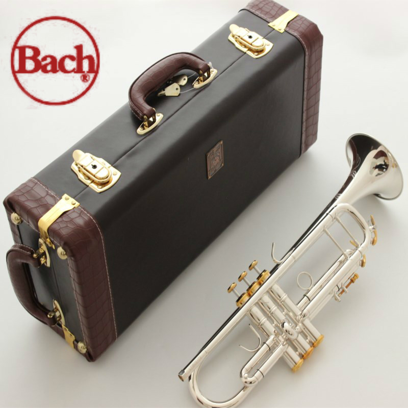 USA Bach Stradivarius Trumpet Bb LT197S 99 Silver Flat B Musical Music Instruments Profesional Horn Trompete Tromba Trompeta