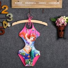 2018 New Infant Baby Girls Swimwear Summer Kids Backless Cartoon Cute Swimsuit Costume Tankini Bathing Suit