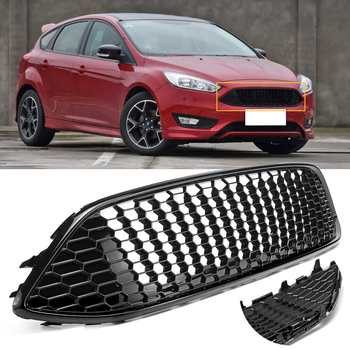 High quality black sport Honeycomb mesh cover front bumper centre Grille Panel for Ford for Focus hatchbackestate 2015-2017 grille