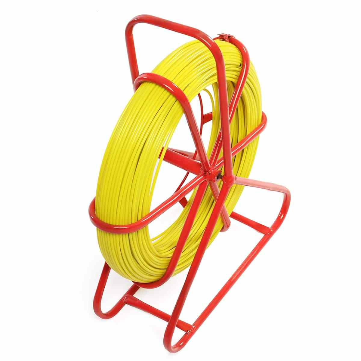 4.5mm Fish Tape Fiberglass Wire Cable Running Rod Duct Rodder Puller Tool With Superior Pulling Strength