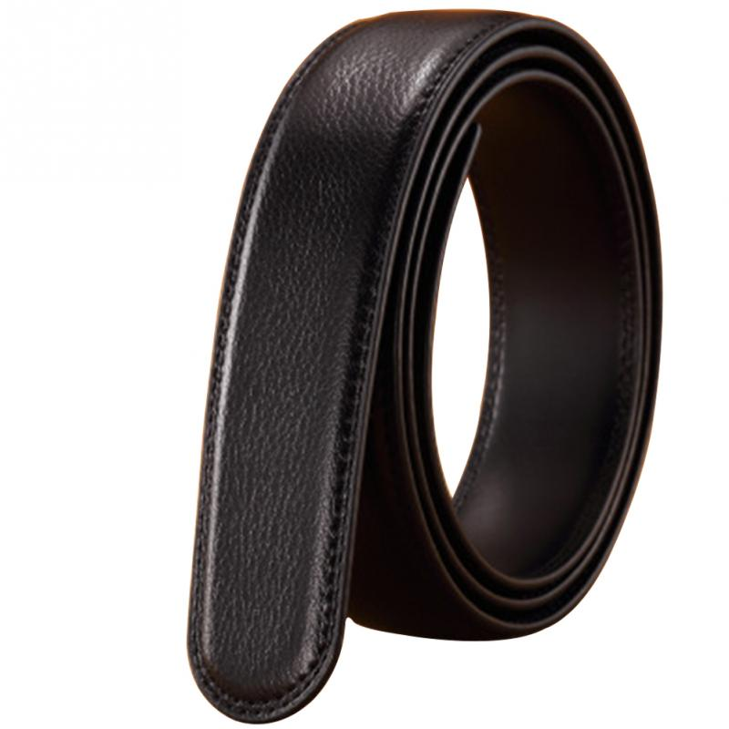3.5cm Width Men   Belt   Solid Color Durable Strap Wear-resistant Smooth Artificial Leather 14 Lines Man   Belt   Without Buckle