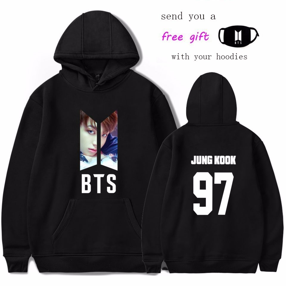 Neueste BTS LIEBE SELBST Bangtan Boys Jungkook Suga Jimin V Sweatshirt Frauen/männer Hooides Sweatshirts K-pop Sweatshirts