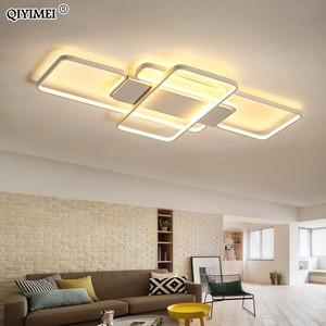 Image 4 - 디밍 LED 천장 조명 게시물 현대 스타일 거실 연구실 장식 전등 갓 천장 조명 lamparas de techo