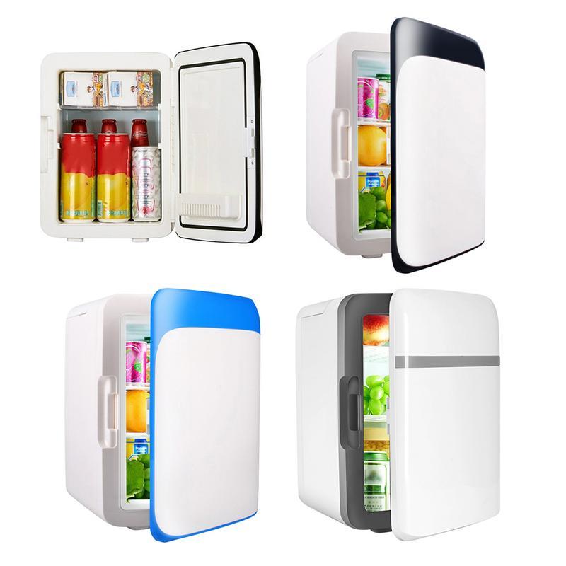 10L Mini Portable refroidissement réchauffement réfrigérateurs réfrigérateur congélateur refroidisseur voyage plus chaud pour voiture Auto maison extérieur pique-nique voyage