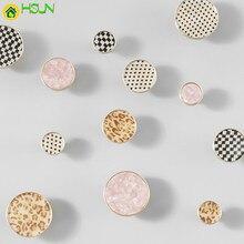 1pc Round Marble Vein brass Knobs for Kitchen Cupboards Cabinet Door knobs Drawer Pulls