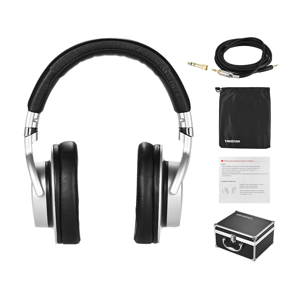 TAKSTAR PRO 82 Professional Studio Dynamic Monitor Headphone Headset Over ear for Recording Monitoring Music with