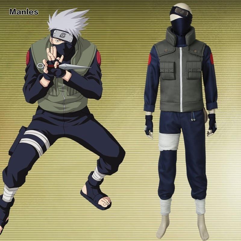 Anime Naruto Costumes Hatake Kakashi Cosplay Haruro Sakura Halloween Adult Fantasy Party Christmas Headwear Custom Made Suit