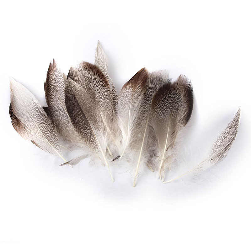 20pcs 9-13cm Duck Feathers for Crafts Manufacture of Mask Hat