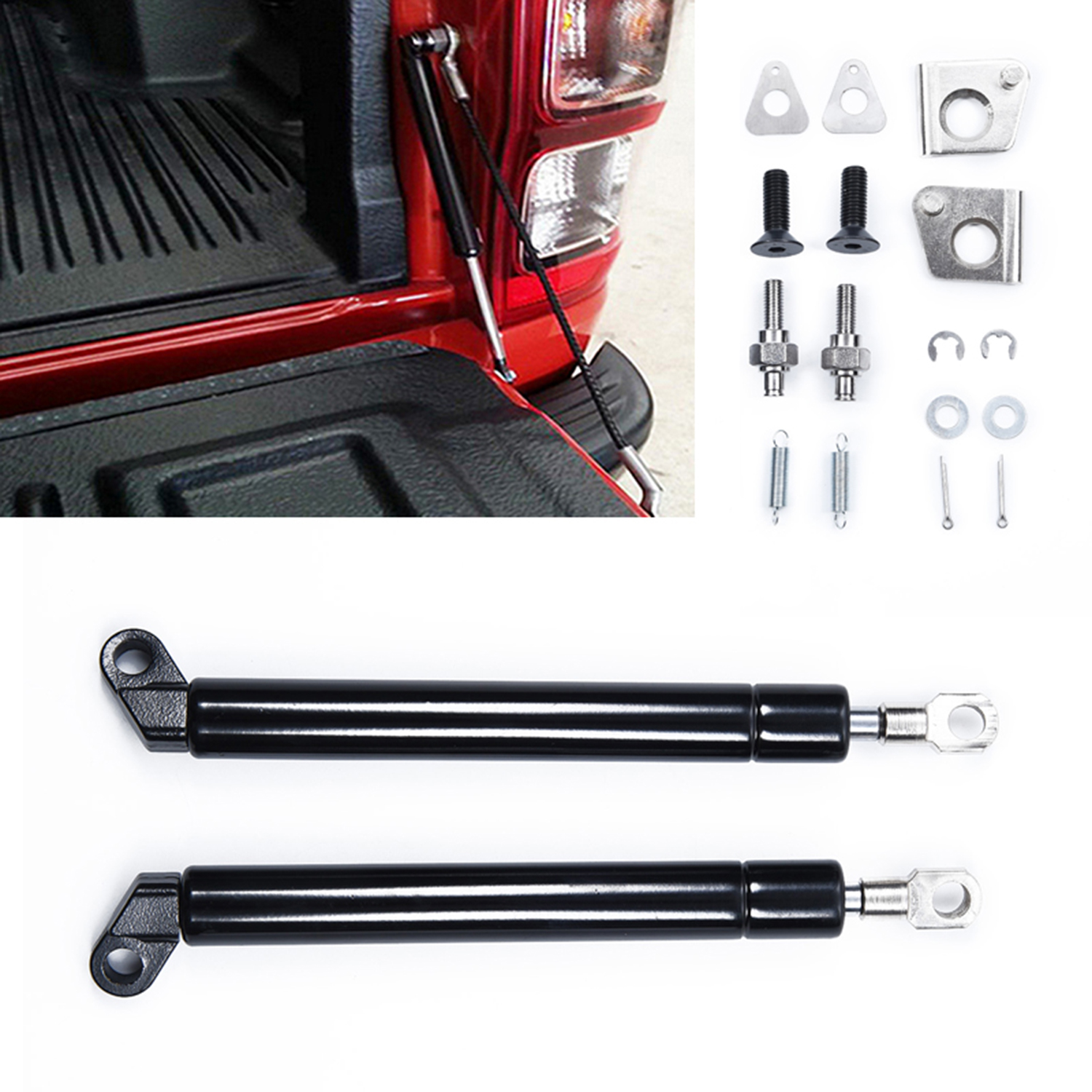Image 5 - 1Pair Spring Steel Tailgate Slow Down & Easy Up Strut Set accessories parts for FORD T6 Year 2012 2016 for MAZDA BT50-in Truck Accessories from Automobiles & Motorcycles