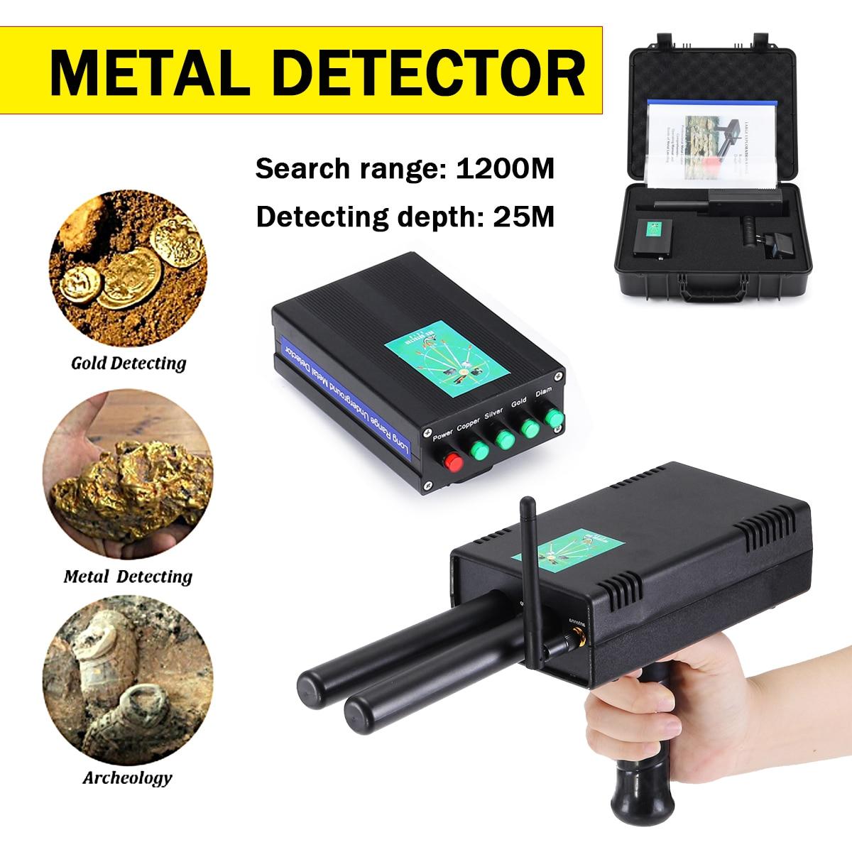 US $206 77 32% OFF|Long Range Underground Metal Detector Finder Gold Silver  Copper Scanner Deep Underground Professtional Gold Detectors Treasure-in