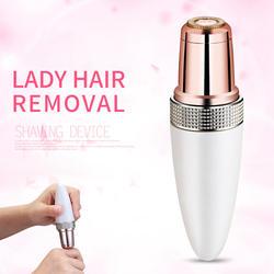 Мини электрический прибор для удаления волос для лица бритва депилятор водонепроницаемый безболезненный триммер для волос для лица и шеи