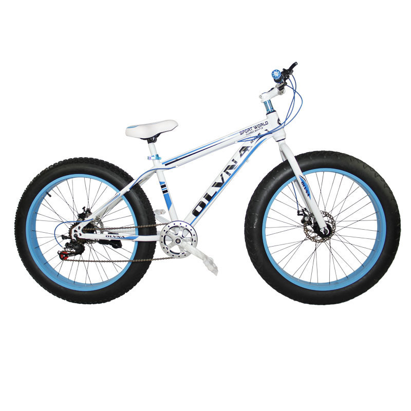 New Large Round Sandy Beach Snow Land Mud Land Exceed Broad And Rough Tyre 26 Inch Baby Road Tiger A Mountain Country Bicycle