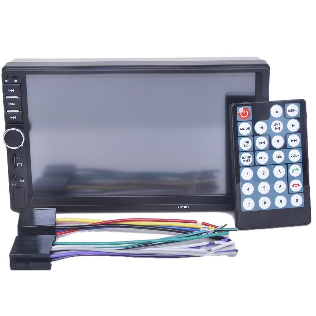 7 pouces 2 Din autoradio lecteur MP5 lecteur tactile TF USB FM Bluetooth DVD vidéo lecteur multimédia automatique avec caméra 7018B