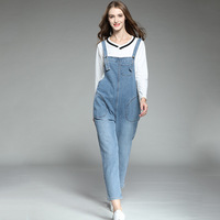 #2059 Spring Summer Spaghetti Strap Denim Overalls For Women Big Size Fashion Jeans Jumpsuit Femme Rompers Plus Size XL 5XL Tide