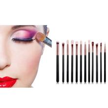 12 PCS Makeup Brush Set Professional Concealer Eyeshadow Brush Kit for Foundation Powder, Blush, Eyeshadow-Black